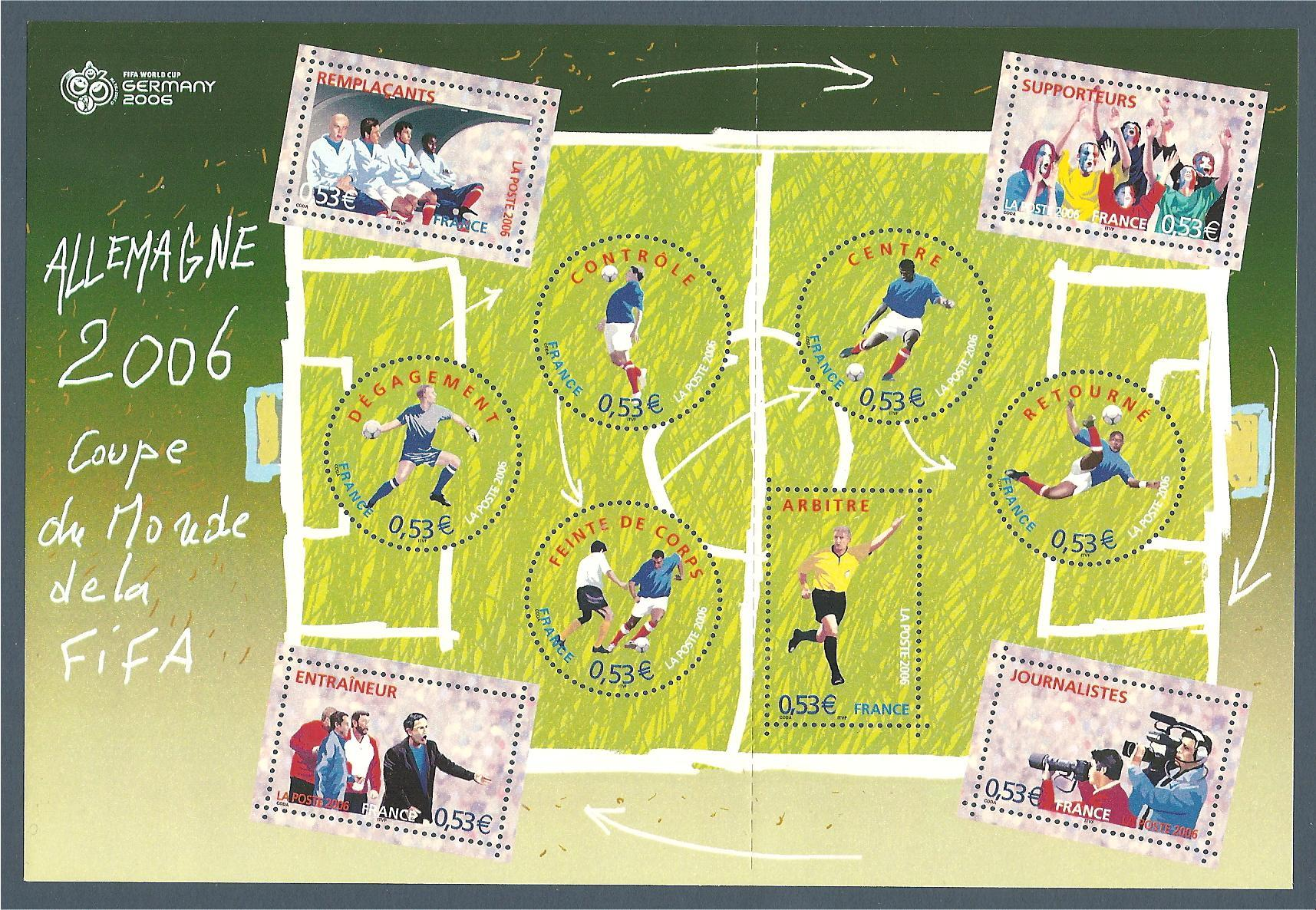 Bloc feuillet n 97 coupe du monde de foot 2006 - Coupe du monde de foot 2006 ...